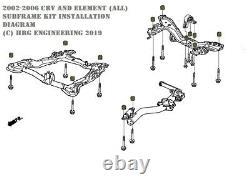 1 inch (26mm) Subframe Kit for 2003-2011 Honda Element & 2002-2006 CR-V