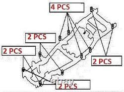 12 X Chassis Frame Mount Body Bush For Mitsubishi L200 Pick Up K74 / K76 / K77