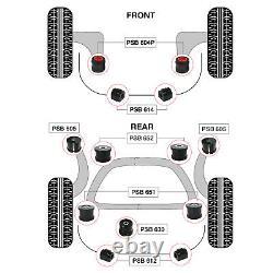 BMW 3 Series E46 Complete Front Wishbone & Rear Subframe PSB Bushing Kit 00 05