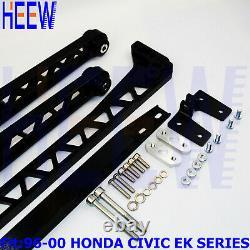 Billet Rear Lower Control Arm Subframe Brace Tie Bar For Honda CIVIC Ek 96-00 F7