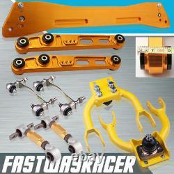 EG DC2 D15 Yellow Front Camber Kit Rear Lower Control Arm Subframe Bushing Kit