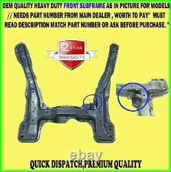 Front Subframe Axle Crossmember For Peugeot Fiat Citroen 2002 Match Part Number