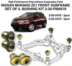 PU Front Sub Frame Bushing Kit 2-30-F900078 fits NISSAN ALTIMA MURANO PATHFINDER