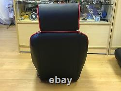 Pair BB1 RS Black / Red Piping Sports Bucket Seats + Subframes CLASSIC MINI