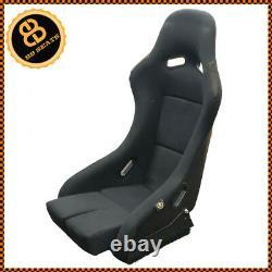 Pair BB5 LARGE Fixed Fibreglass Racing Bucket Seat + Sub Frames For BMW E36 E46