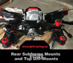 REAR SUBFRAME AND REAR DIFF TOP MOUNTS CELICA ST185 GT4 all-trac BLACK