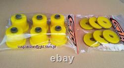 SUPRA MK3 MA70 REAR SUBFRAME POLYURETHANE MOUNTS for Supra yellow